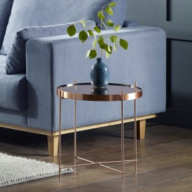 Oakland Copper Round Side Table