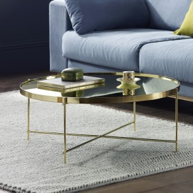 Oakland Gold Round Coffee Table