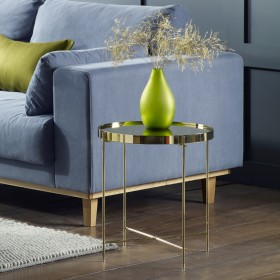 Oakland Gold Round Lamp Table