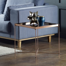Oakland Copper Square Lamp Table
