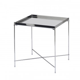 Oakland Chrome Square Lamp Table