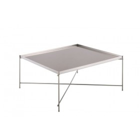 Oakland Brushed Nickel Square Coffee Table