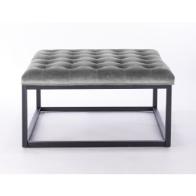 Falun Footstool - Seal Grey