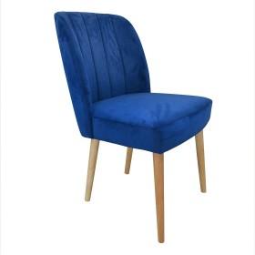 Ranan Dining Chair - Oak Legs - Midnight Blue (Pair)
