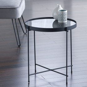 Oakland Black Round Side Table